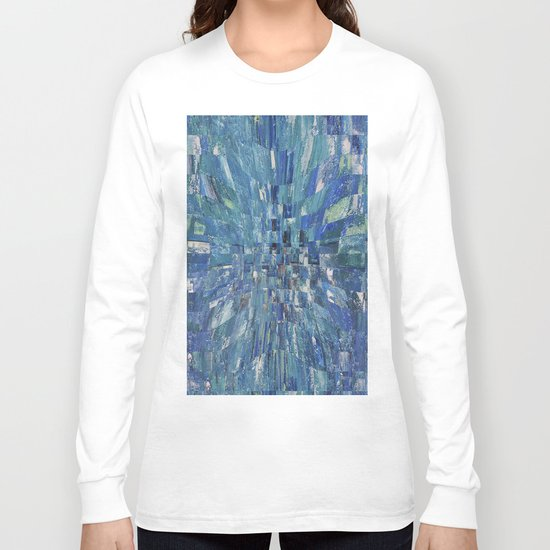 Abstract blue pattern 5 Long Sleeve T-shirt