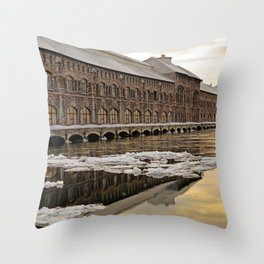 Sunset Power Plant Throw Pillow