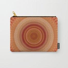 Vintage Orange Mandala Carry-All Pouch
