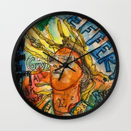 jeffery,poster,lyrics,songs,album,colorful,colourful,portrait,street art,thug Wall Clock