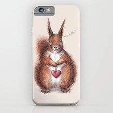 Squirrel heart love iPhone 6s Slim Case