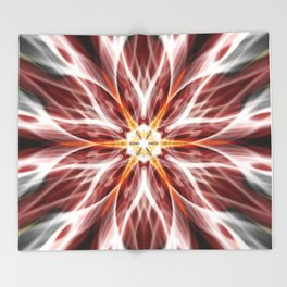 Burning hot electric flower Throw Blanket