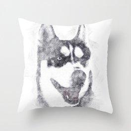Husky Throw Pillow