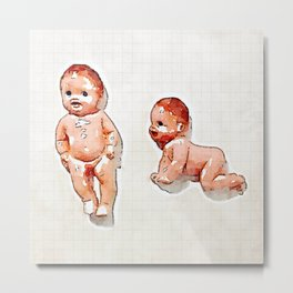 Babies on the Wall Metal Print