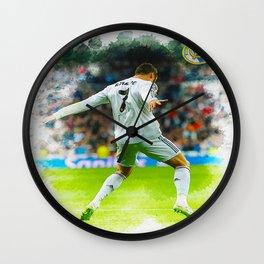 Cristiano Ronaldo celebrates after scoring Wall Clock