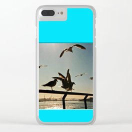 Americana - Pier 17 - Seagulls - Manhatten - NYC Clear iPhone Case