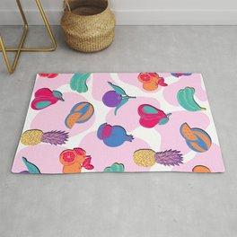 Abstract Pop Art Fruit Magnet Pattern Edit Rug