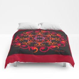Grace Mandala - Red Black Comforters