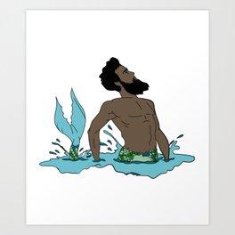 Majestic Mer Man 2 Art Print