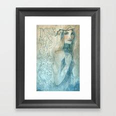 I must be a mermaid Framed Art Print