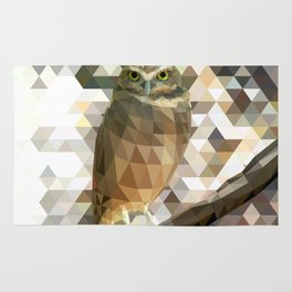 Burrowing Owl - Low Poly Technique Rug