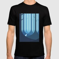 Blue forest Mens Fitted Tee Black LARGE