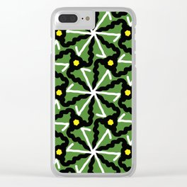 colorful illusion pattern background Clear iPhone Case