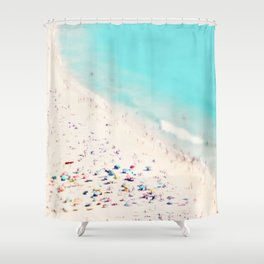 beach love III square Shower Curtain