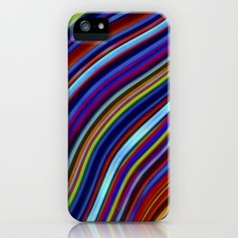 Wild Wavy Lines 19 iPhone Case