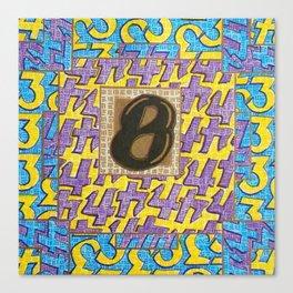 Alpha-Numero: Eight Canvas Print
