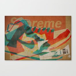 Nike Dunk Hi Pro SB Supreme   Highsnobiety Canvas Print