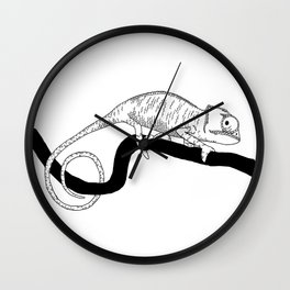 chameleon illustration 2 Wall Clock