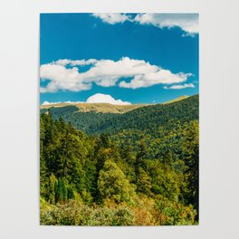 Carpathian Mountains Landscape, Summer Landscape, Transylvania Mountains, Forests Of Romania, Travel Poster