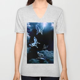 Coming To life Butterfly's Unisex V-Neck