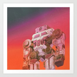 GO-BOT SUPERJAXXED (everyday 11.24.15) Art Print