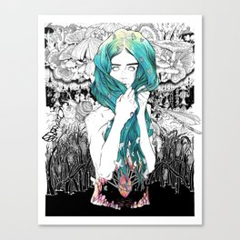 She Waded Canvas Print