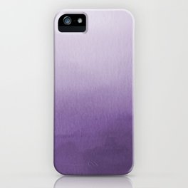 Inspired by Pantone Chive Blossom Purple 18-3634 Watercolor Abstract Art iPhone Case