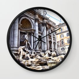 Patterns of Places - Rome Wall Clock