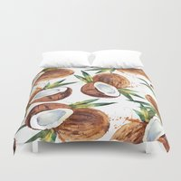 coconut wishes Duvet Covers featuring Coconut by Vale Bocchi