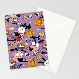 Man Eating Pumpkins Pattern Stationery Cards