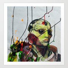 Thane Krios Mass Effect Portrait Art Print