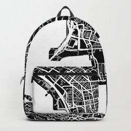 Street MAP Hong Kong // Black&White Backpack