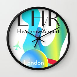 LHR Heathrow airport code Wall Clock