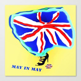May in May (trouble in politics - Brexit) - shoes stories Canvas Print