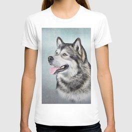 Drawing Dog Alaskan Malamute T-shirt