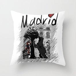 Madrid - Travel Serie Throw Pillow