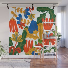 Tropical Flower Pattern II Wall Mural