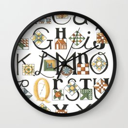 The ABC's of Quilting Wall Clock