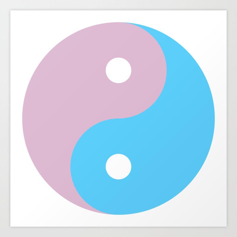 Transgender Yin Yang Symbol Art Print By Lgbt Society6