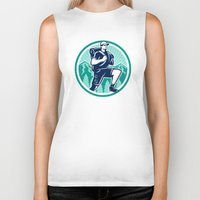 hiking Biker Tanks featuring Hiker Hiking Mountain Retro by patrimonio
