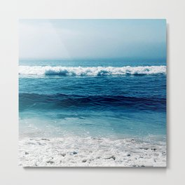 aqua foamy sea Metal Print