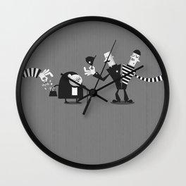 Police Duality Wall Clock