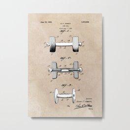 patent art Jowett Dumb Bell 1927 Metal Print