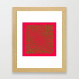 Red and green abstract digital background Framed Art Print