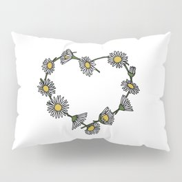 Daisy Chain Heart Pillow Sham