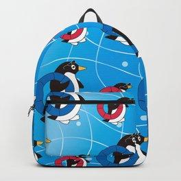 Parent-child penguin walking on the Wave_A Backpack