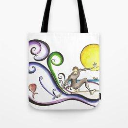 Fish Surfer  Tote Bag