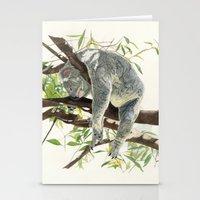 koala Stationery Cards featuring Koala by Patrizia Donaera ILLUSTRATIONS
