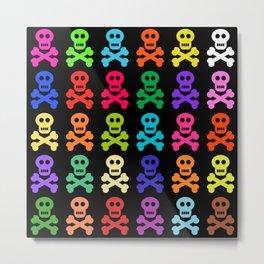 Colorful Pirate Skulls Metal Print