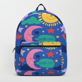 Swedish Folk Celestial in Country Blue Backpack